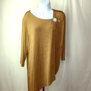 Chico's Travelers Asymmetrical Size 2 Tunic Top